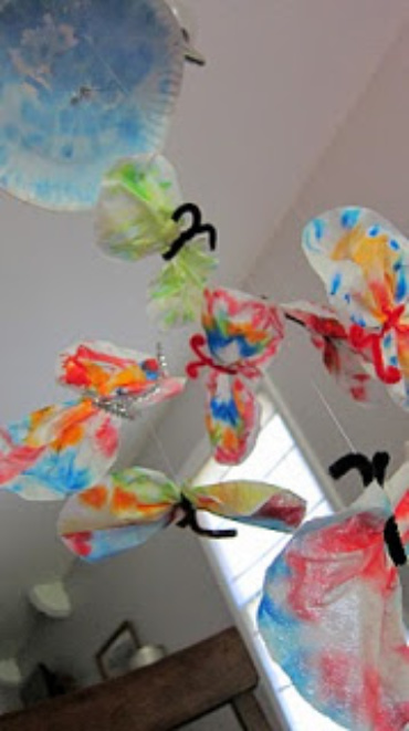 How to make a Tie Dyed Butterfly Mobile
