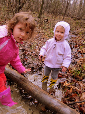 playing in the mud with kids